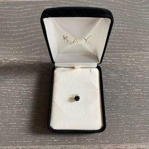 Black Diamond 14K White Gold Necklace Charm